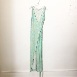 Diane Von Furstenberg maxi dress animal size 14